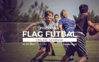 Seminár FLAG FUTBAL je späť. Pre učiteľov, trénerov a záujemcov je pripravená online forma.